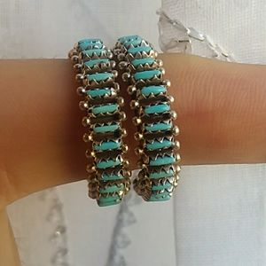 Jewelry - Native American turquoise hoops
